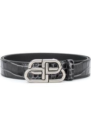 Balenciaga Hombre Cinturones - Cinturón BB con efecto piel de cocodrilo
