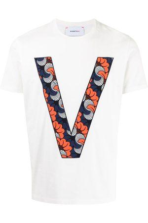 Ports V Sin mangas - Camiseta con estampado de monograma