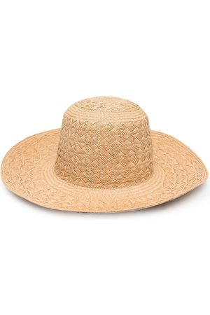 Saint Laurent Sombrero de rafia tejido
