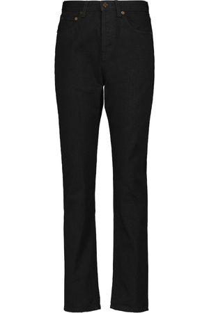 Saint Laurent Jeans ajustados de tiro alto