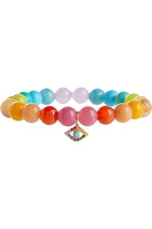 Sydney Evan Pulsera Rainbow de jade con charm
