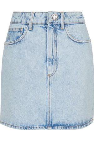 Alessandra Rich Minifalda de jeans