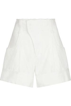 Chloé Shorts de algodón de tiro alto