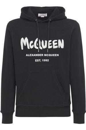 Alexander McQueen | Hombre Sudadera De Algodón Con Logo Graffiti Y Capucha S