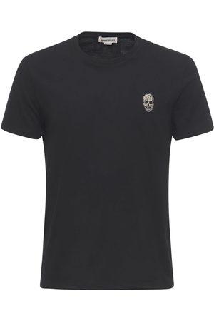 ALEXANDER MCQUEEN | Hombre Camiseta De Algodón Con Parche De Calavera S