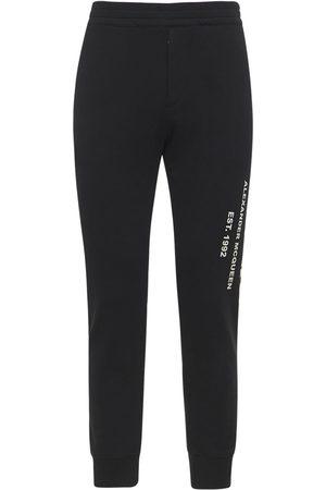 Alexander McQueen | Hombre Pantalones De Algodón Con Logo Graffiti S