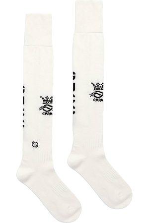 Gucci Hombre Calcetines - Calcetines de punto de intarsia con logo