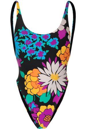 Saint Laurent Mujer Bañadores - Bañador con estampado floral