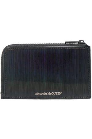 Alexander McQueen Hombre Carteras y monederos - Tarjetero con logo estampado