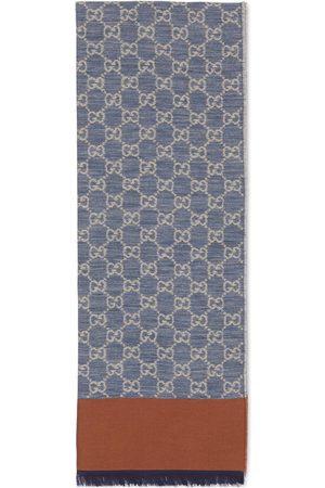 Gucci Hombre Bufandas y Pañuelos - Estola de jacquard de algodón con GG