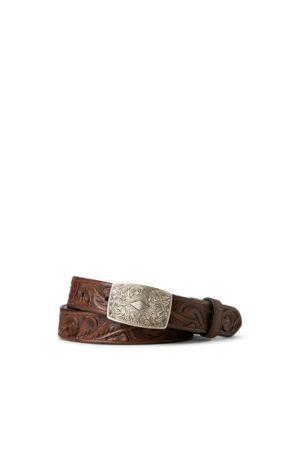 RRL Hombre Cinturones - Cinturón de piel trabajado a mano