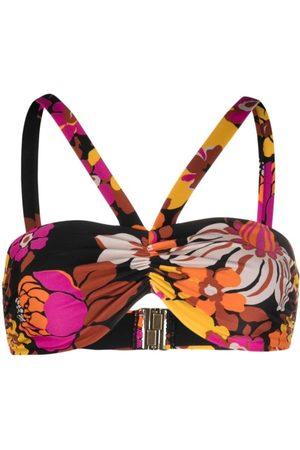 Saint Laurent Mujer Bikinis - Top de bikini con motivo floral