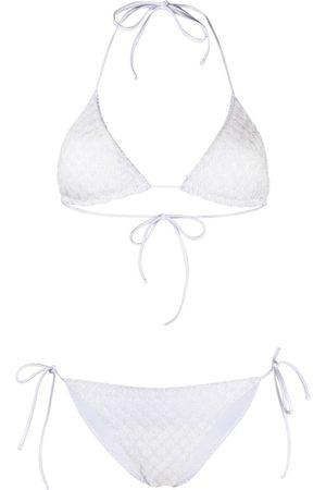 Missoni Mujer Bikinis - Bikini metalizado con cuello halter