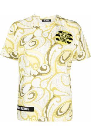 RAF SIMONS Camiseta con estampado abstracto