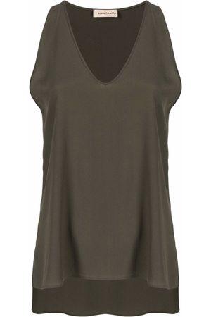 BLANCA Mujer Tops - Top sin mangas con cuello en V