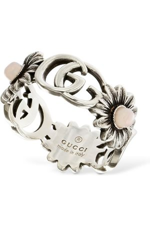 "Gucci Mujer Anillos - | Mujer Anillo ""double G Flower"" Con Madreperla /rosa 15"