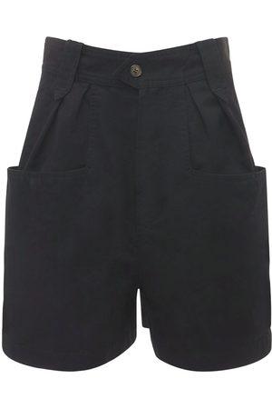 Isabel Marant Mujer Pantalones cortos - | Mujer Shorts Plisados De Algodón 34