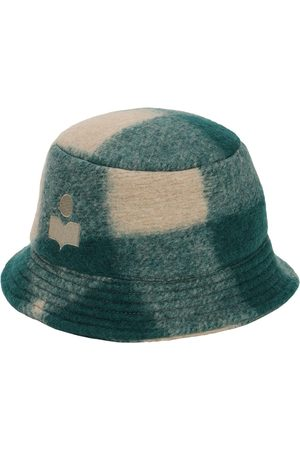 Isabel Marant Mujer Sombreros -   Mujer Haley Checked Wool Blend Bucket Hat 56