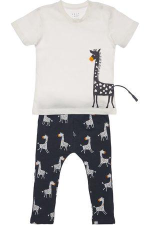 YELLOWSUB Niño Pantalones y Leggings - | Niño Camiseta Y Pantalones De Algodón Estampados /marino 2-3a