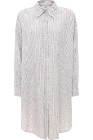 Isabel Marant Mujer Vestidos - | Mujer Vestido Drapeado De Popelina /blanco 34