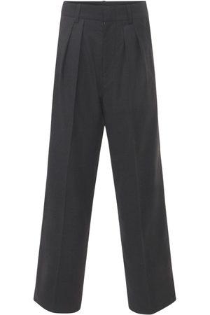 "Isabel Marant Mujer Pantalones y Leggings - | Mujer Pantalones Plisados ""nafy"" De Lana Cintura Baja 34"