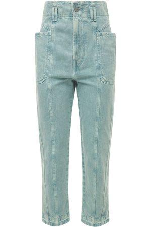 Isabel Marant Mujer Cintura alta - | Mujer Pantalones De Denim De Algodón Con Cintura Alta 34