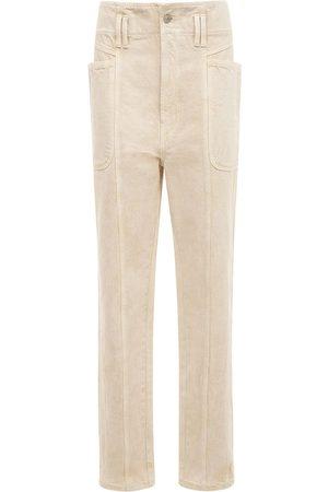 Isabel Marant Mujer Cintura alta - | Mujer Pantalones Rectos De Algodón Con Cintura Alta 34
