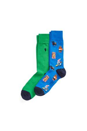 Polo Ralph Lauren Hombre Calcetines - 2 pares de calcetines largos Polo Bear