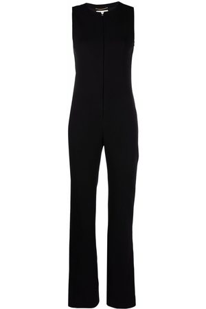 Saint Laurent Mujer Monos largos - Sleeveless crepe jumpsuit