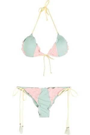 Brigitte Bikini de triángulo tricolor