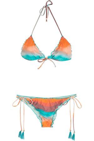 Brigitte Mujer Bikinis - Conjunto de bikini festoneado