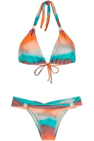Brigitte Conjunto de bikini con estampado degradado