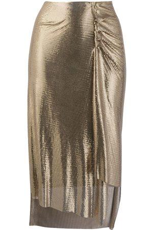 Paco rabanne Mujer Asimétricas - Falda metalizada