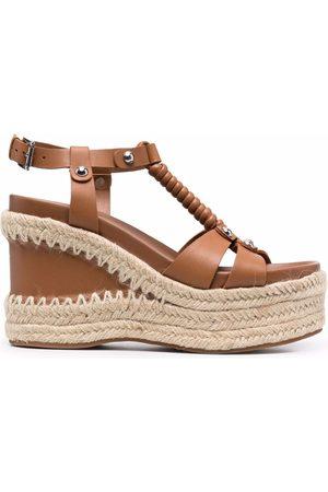 Ash Mujer Sandalias - Wedge-heel leather sandals