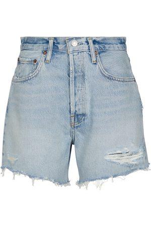 AGOLDE Shorts Riley de jeans de tiro alto