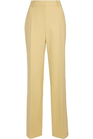 Victoria Beckham Pantalones rectos de lana tiro alto