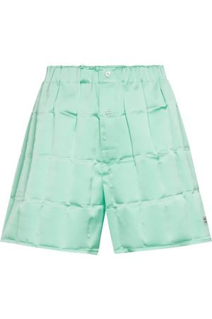 COPERNI Shorts de satén de cuadros