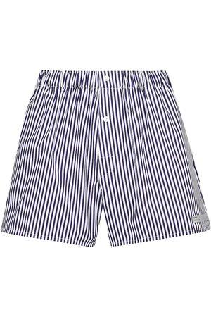 Coperni Shorts de algodón de rayas