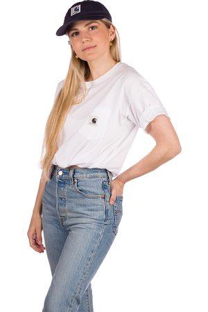 Carhartt WIP Mujer Manga corta - Pocket T-Shirt blanco