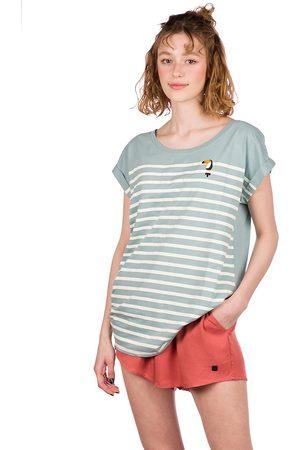 Iriedaily Mujer Manga corta - Tucan Stripe T-Shirt azul