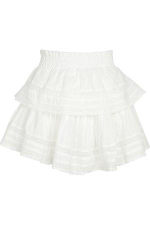 LOVESHACKFANCY Minifalda de algodón con volantes