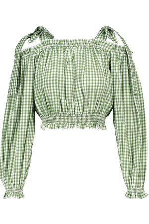 ALEXANDRA MIRO Exclusivo en Mytheresa – blusa de algodón de rayas