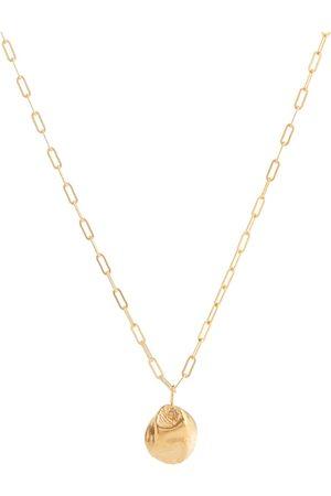 Alighieri Collar Minerva de bronce con baño en oro de 24 ct