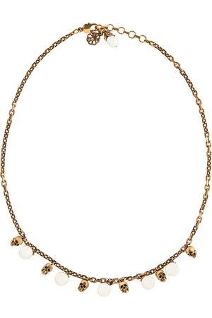 Alexander McQueen Mujer Collares - Collar de perlas artificiales y calaveras