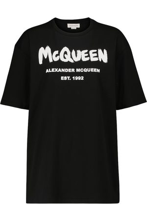 Alexander McQueen Mujer Manga corta - Camiseta de algodón estampada