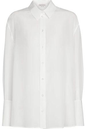 Alexander McQueen Mujer Manga larga - Camisa de chifón de seda