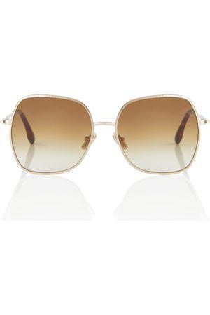 Victoria Beckham Gafas de sol de metal cuadradas