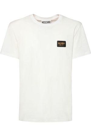 Moschino   Hombre Camiseta De Algodón Stretch Con Logo 44