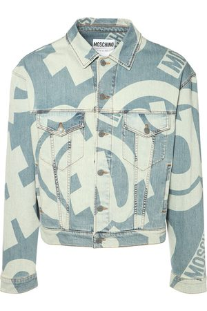 Moschino | Hombre Chaqueta De Denim Stretch Con Estampado 44