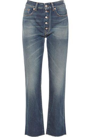 MM6 MAISON MARGIELA | Mujer Jeans De Denim De Algodón Con Cintura Alta 36